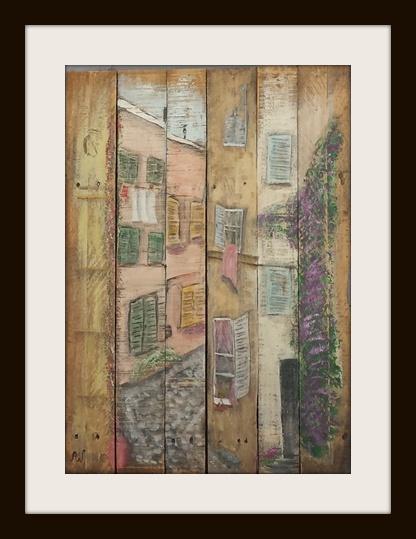 Little Italy. Acryl op sloophout. 60*80 cm. Verkocht/sold