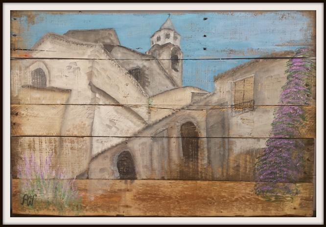 Roman Miracles. Acryl op sloophout. 68*100 cm